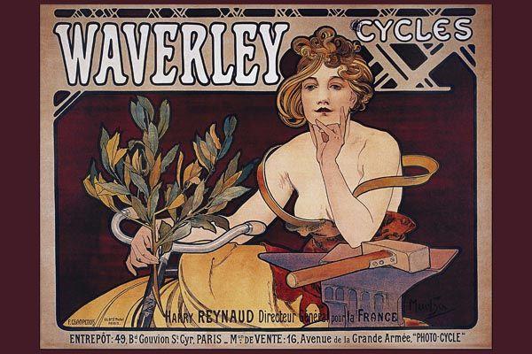 151. Ретро плакат западных стран: Waverley cycles