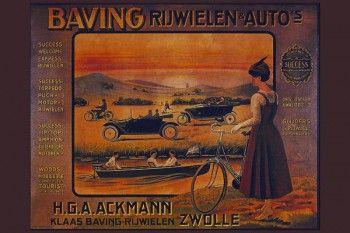 152. Ретро плакат западных стран: Baving ruwielen @ avto`s H.G.A. Ackmann Zwolle