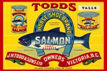 163. Иностранный плакат: Todds Salmon fancy sockye