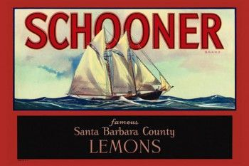 167. Иностранный плакат: Schooner brand