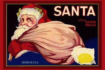 171. Иностранный плакат: Santa brand. From Santa Paula