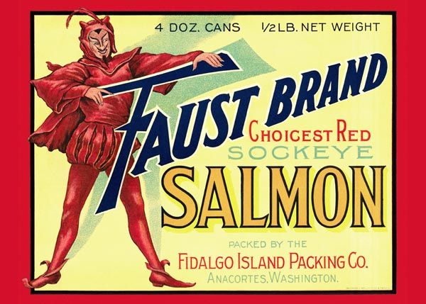 174. Иностранный плакат: Faust brand Salmon