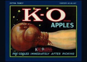 175. Иностранный плакат: K - O brand apples