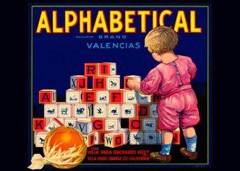 178. Иностранный плакат: Albhabetical brand