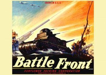 183. Иностранный плакат: Battle front brand
