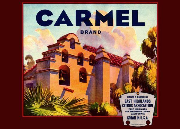 185. Иностранный плакат: Carmel brand