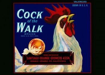 194. Иностранный плакат: Cock of the Walk brand