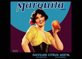 201. Иностранный плакат: Marquita brand