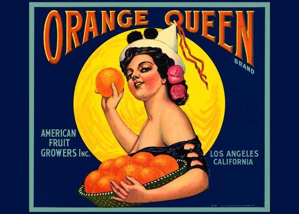 202. Иностранный плакат: Orange Queen brand