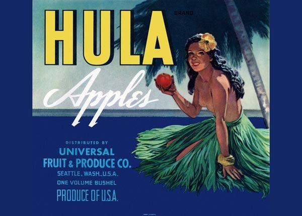 209. Иностранный плакат: Hula Apples