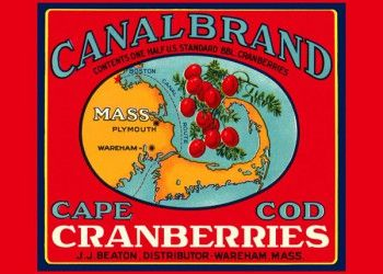 210. Иностранный плакат: Canalbrand cape cod Granberries