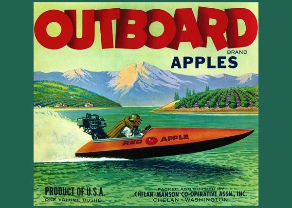 218. Иностранный плакат: Outboard brand apples