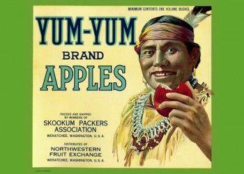 221. Иностранный плакат: Yum-Yum brand apples