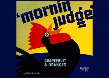 """230. Иностранный плакат: """"Mornin Judge"""""""