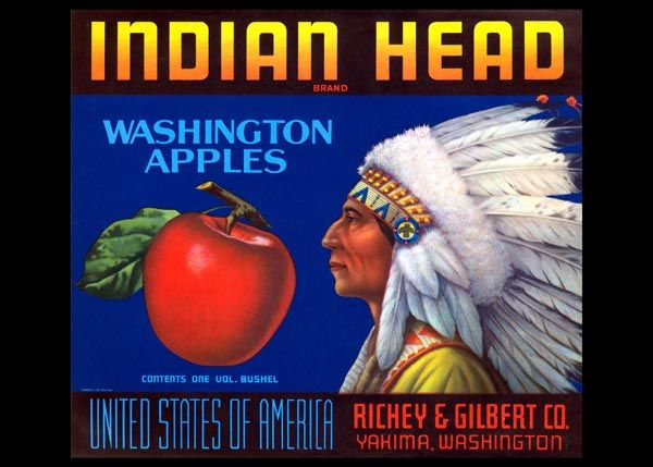 238. Иностранный плакат: Indian Head brand