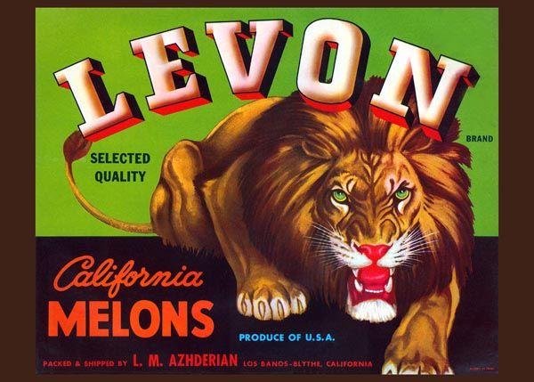 240. Иностранный плакат: Levon brand