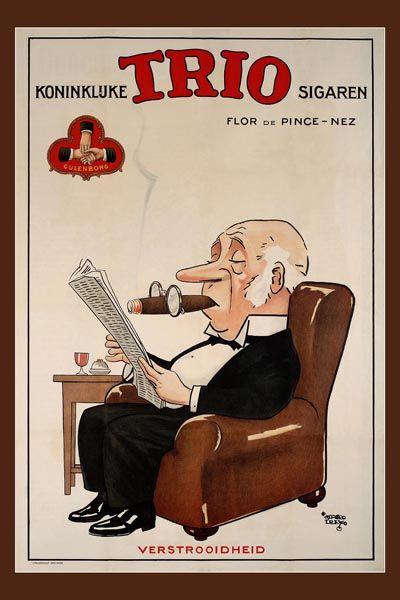 243. Иностранный плакат: Koninkluke Trio sigaren