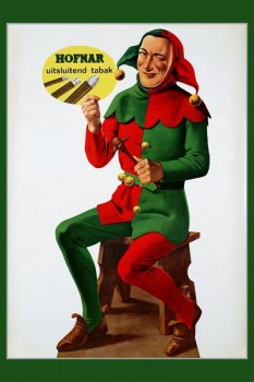 245. Иностранный плакат: Hofnar uitsluitend tabak
