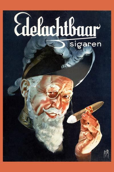252. Иностранный плакат: Edelachtbaar sigaren