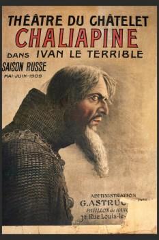 253. Иностранный плакат: Theatre du chatelet Chaliapene dans Ivan le Terrible