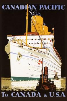 255. Иностранный плакат: Canadian pacific. To Canada @ U.S.A.
