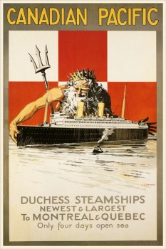 256. Иностранный плакат: Canadian pacific. Duchess steamships...