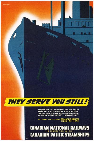 257. Иностранный плакат: They serve you still!