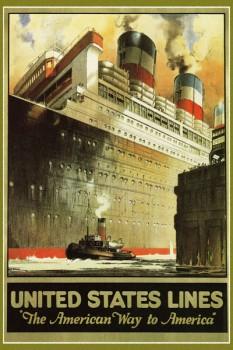 258. Иностранный плакат: Unitet States lines.