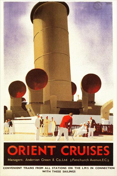 259. Иностранный плакат: Orient cruises