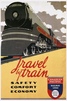 260. Иностранный плакат: Travel by train