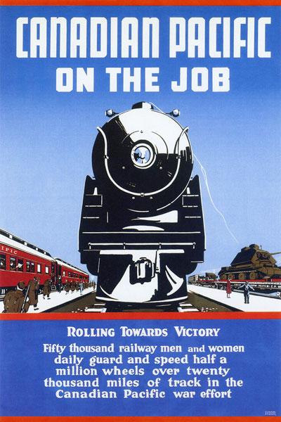 262. Иностранный плакат: Canadian pacific on the job