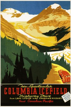 266. Иностранный плакат: Columbia icefield