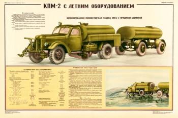 0013. Военный ретро плакат: КПМ-2 с летним оборудованием