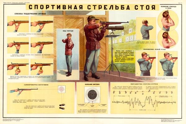 0150. Военный ретро плакат: Спортивная стрельба стоя