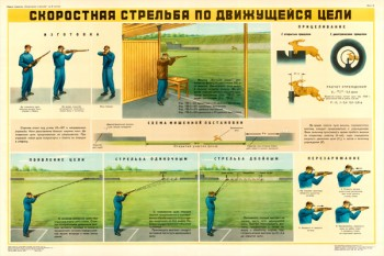 0154. Военный ретро плакат: Скоростная стрельба по движущейся цели