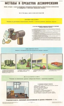 0281. Военный ретро плакат: Методы и средства дезинфекции