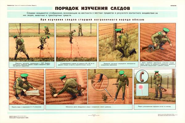 0844. Военный ретро плакат: Порядок изучения следов