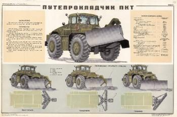 0464. Военный ретро плакат: Путепрокладчик ПКТ