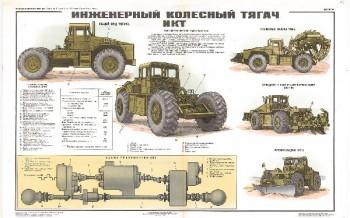 0473. Военный ретро плакат: Инженерный колесный тягач ИКТ