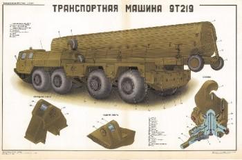 0478. Военный ретро плакат: Транспортная машина 9Т219