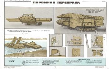 0533. Военный ретро плакат: Паромная переправа