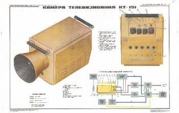 0536. Военный ретро плакат: Камера телевизионная КТ-151