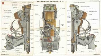 0547. Военный ретро плакат: Катапультная установка КТ-1