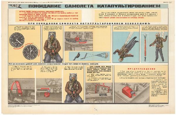 0548. Военный ретро плакат: Покидание самолета катапультированием