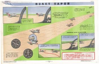 0584. Военный ретро плакат: Взлет парой