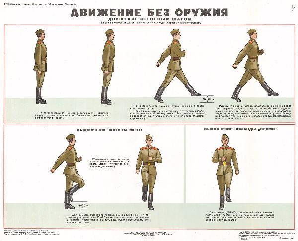 0676. Военный ретро плакат: Движение без оружия