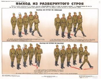 0685. Военный ретро плакат: Выход из развернутого строя