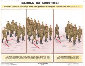 0686. Военный ретро плакат: Выход из колонны
