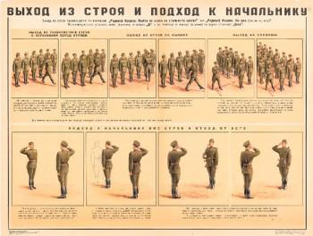 0699. Военный ретро плакат: Выход из строя и подход к начальнику (Вариант 2)