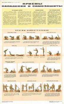 0706. Военный ретро плакат: Приемы нападения и самозащиты (часть1)